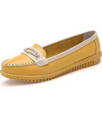 scarpe di cuoio casual delle donne colori punte dei piedini dei piedini soft sole sulle scarpe di cuoio di cuoio