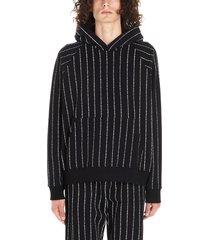 enfants riches deprimes logo stripe hoodie