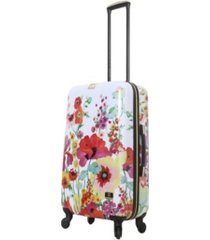 "halina collier campbell secret garden 24"" hardside spinner luggage"