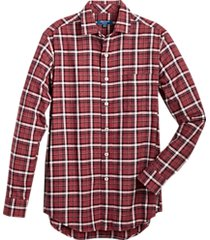 cole haan grand.øs. red plaid sport shirt