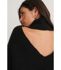 na-kd trend stickad tröja - black
