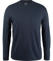wolverine men's knox long sleeve tee dark navy, size xl