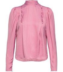 anya blouse blus långärmad rosa birgitte herskind