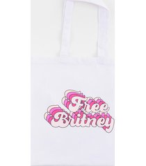 women's free britney tote in ivory by francesca's - size: one size