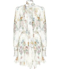zimmermann wavelenght scallop playsuit sweat pants