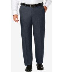 j.m. haggar big & tall classic fit stretch sharkskin flat front dress pants