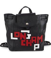 le pliage embellished logo backpack