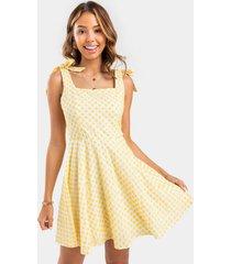blake embroidered mini dress - yellow