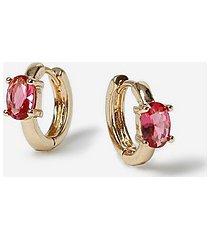 *stone clicker earrings - pink