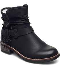 94689-00 shoes boots ankle boots ankle boot - flat svart rieker