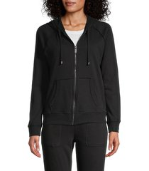 marc new york performance women's zip raglan-sleeve hoodie - grey - size m