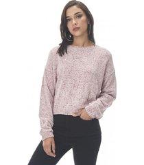 sweater chenille crop palo rosa corona