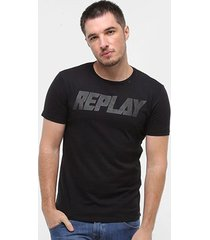 camiseta replay masculina - masculino