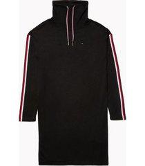 tommy hilfiger women's essential funnel-neck dress black - s