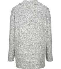 tröja miamoda svart::grå
