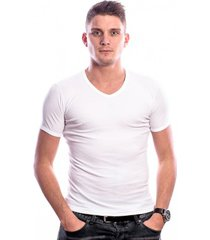 beeren men t-shirt v-hals wit (3 pack) ( extra lang)