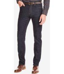 boss men's regular/classic-fit dark wash jeans