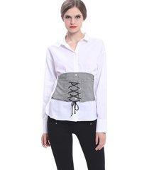 blusa corset blanco nicopoly