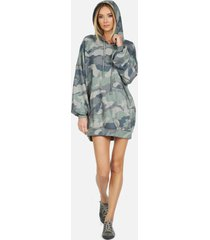 peters le army camo hoodie dress - army camo l