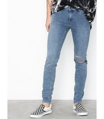 cheap monday him spray sacred blue jeans blue