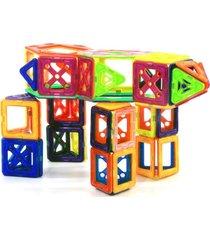 bloco para montar - magforma magnéticos maleta com 30 peças