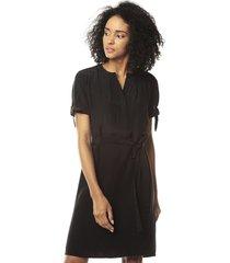 vestido negro tommy hilfiger