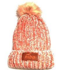 gorro de lana el bolsón rosado niba