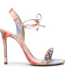 delylah embellished tie-dye sandal - 6 multi tie-dye fabric