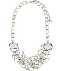 camila klein lais beethoven mid-lenght necklace - silver