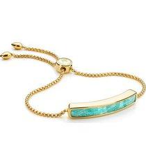 gold baja bracelet amazonite