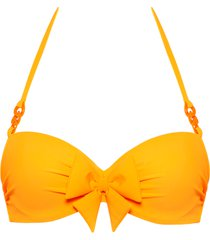 papillon plunge balcony bikini top | wired padded eye-popping orange - 38b
