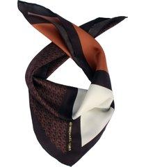 michael kors silk bandana in chocolate at nordstrom
