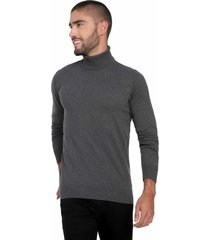 buzo jersey cuello tortuga - whc542-gris oscuro