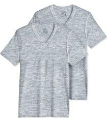 jockey men's big & tall classic tagless v-neck undershirt 2-pack