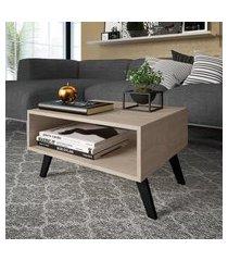 mesa de centro para sala ou escritório nicho marrom lilies móveis