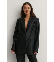 matiamu by sofia x na-kd oversize blazer i pu - black