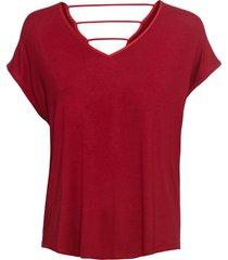 maglia in jersey con fettucce sulla schiena (rosso) - bodyflirt