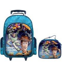 mochila com rodinhas toy story com lancheira g masculina