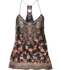 camilla racerback cami dress - black