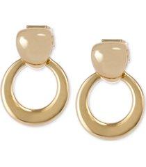 laundry by shelli segal gold-tone doorknocker drop earrings