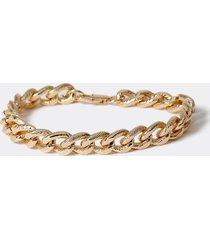 river island mens gold colour etched chain bracelet