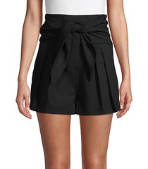 songs stretch wool tie-waist shorts