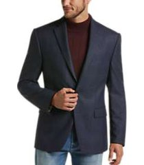 lauren by ralph lauren navy plaid classic fit sport coat
