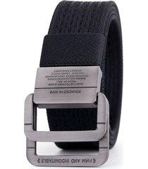 cinturon correa nylon hombres hebilla doble anillo 035 marron