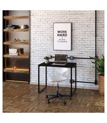mesa de escritório kuadra preta 90 cm