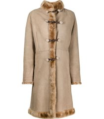 a.n.g.e.l.o. vintage cult 1970s toggle fastening knee-length coat -