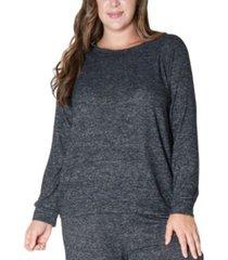 coin 1804 women's plus size cozy raglan sweatshirt