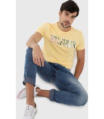camiseta amarillo-multicolor tommy hilfiger