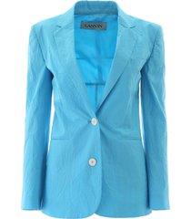 lanvin crackle cotton blazer