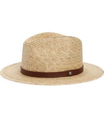 brixton messer straw fedora, size small in tan at nordstrom